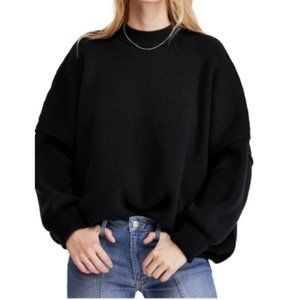 Free People Black Easy Street Tunic